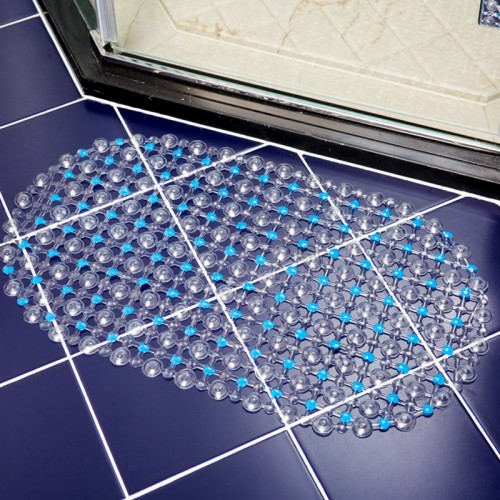 Water droplets Bath Mat With Sucker Non Slip Floor Mat
