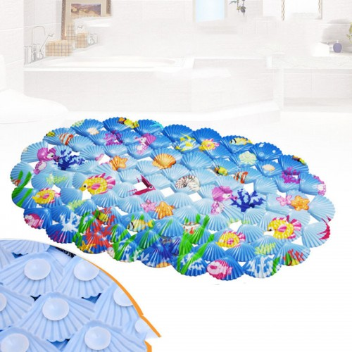 cartoon Bath mats cartoon shell bathroom suction cup for baby and child mats