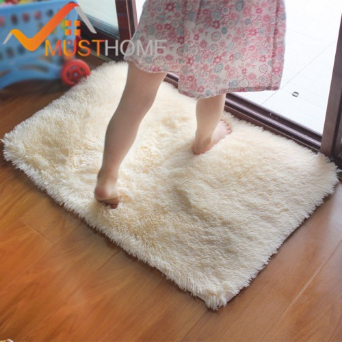 shaggy Modern Bathroom bath mat anti slip