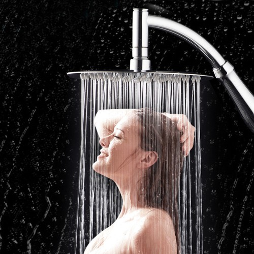 NEW 6 inch 360 Rotating Large Shower Head Bathroom Stainless Steel Rain Spray Top Water saving