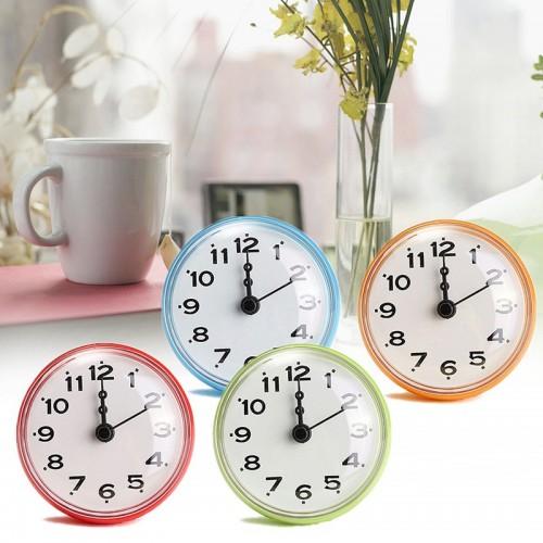 NEW Bathroom Kitchen Waterproof Shower Wall mini Clock Watch Suction Cup Battery