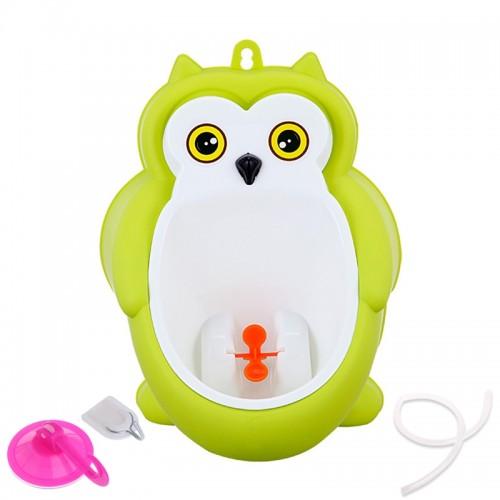 New Children Boy Potty Training Bathroom Urinal Toddler Kid Cartoon Owl Pee Aid Wall Mounted Standing