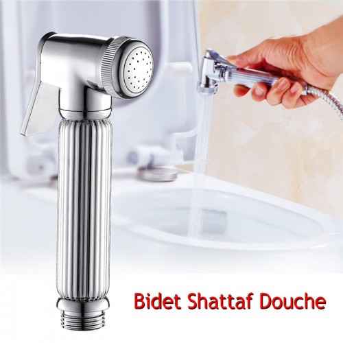 New Luxuy Solid Brass Bidet Douche Spray Hand Shower Head Bracket and Hose Set Free shipping