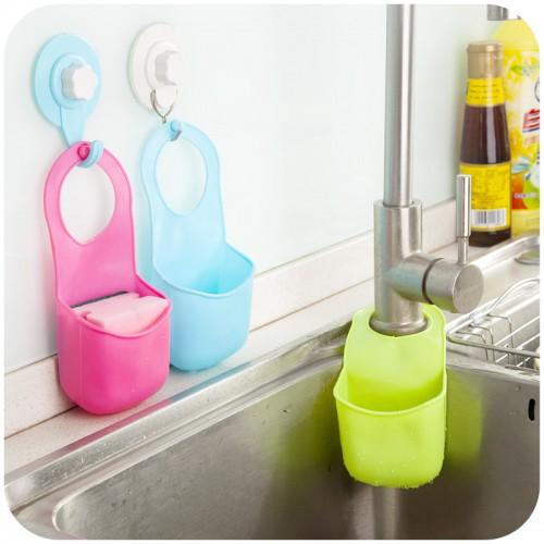 Sponge Holder Toothbrush Holder Storage Hanger Sink Rack Holders Racks