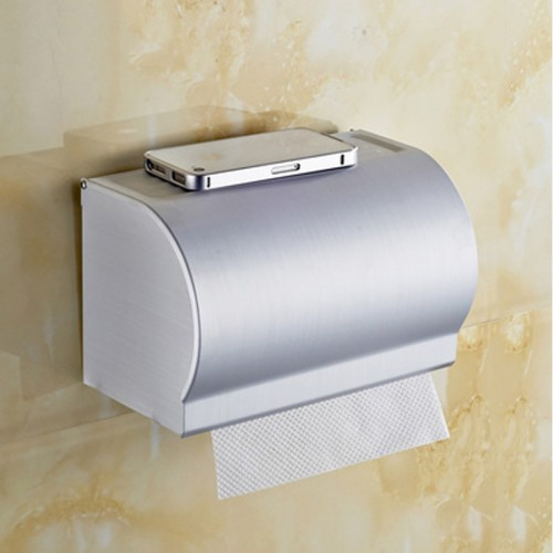 Stainless Steel Roll Paper Holder Bathroom Toilet Sealed Toilet Tissue Box Bathroom Accessories And Items
