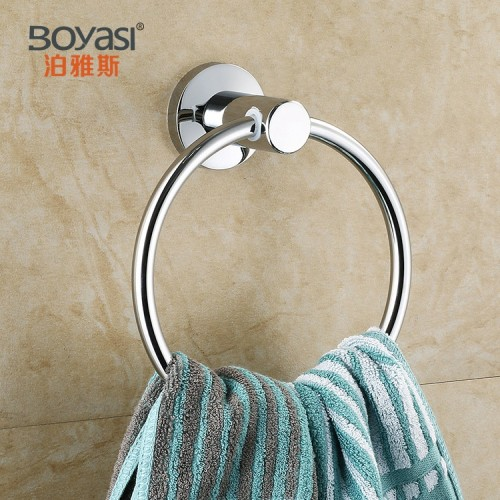 Stainless steel bathroom accessories wall mounted towel holder hanging Polishing plating towel ring 8 65 28CM