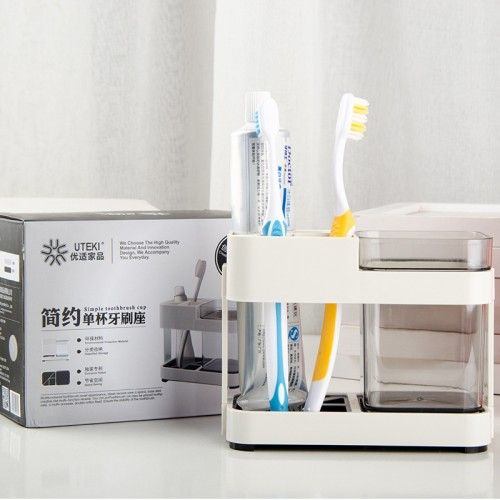 Toothbrush Box Holder Cup Bathroom Storage Toilet Two Removable Dental Appliances Toothbrush Box Seat Creative Bathroom