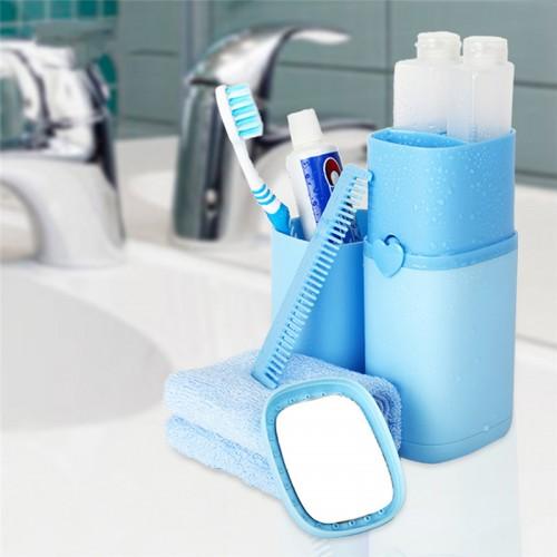 Wash Kit Toothbrush Holder Gargle Cup Sub Bottle Dressing Case Wash Storage