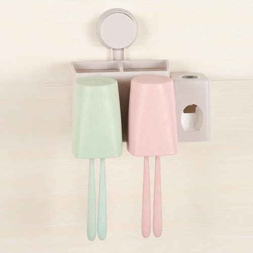 toothpaste dispenser toothbrush wall suction bathroom set sucker toothbrush holder