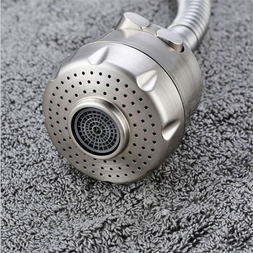 kitchen faucet aerator two way water bubbler nozzle ABS brushed water saving aerator water spout