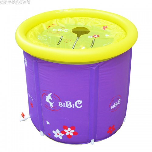 Pump And Lid Folding Bathtub Bath Barrel Adult Inflatable and Thicken Tub