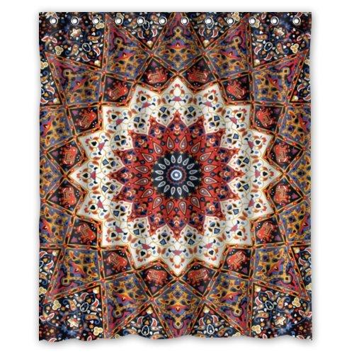 Mandala Hippie Indian Flower Fashion Shower Curtain Polyester Curtain Hotel Bathroom With Hooks