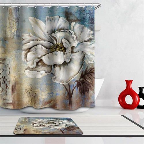 Multi size Waterproof shower cortina ducha 3D Peony Rose Shower Curtain curtains for bath room with