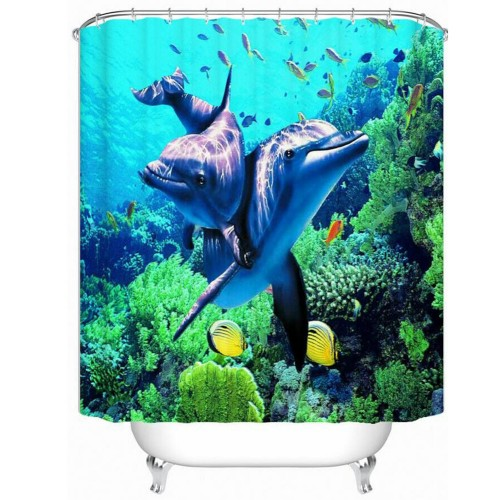 New Arrival 3D WaterProof Lifelike Scenery Bathroom Curtain High Quality Anti mildew Polyester Shower Room Curtains