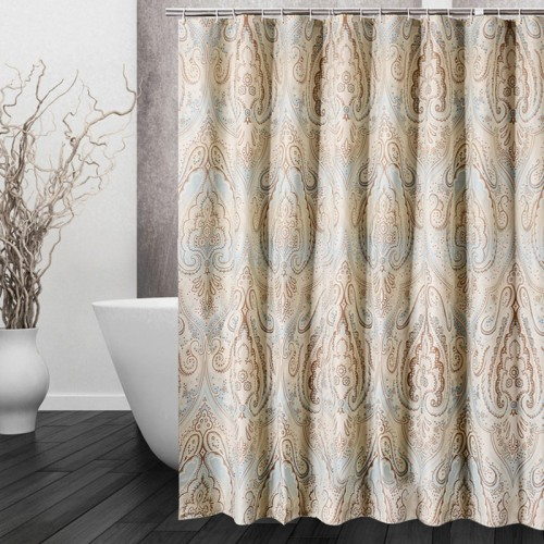 Opaque Shower Curtain Waterproof Mildewproof Polyester Fabric Bath Curtain Bathroom Product