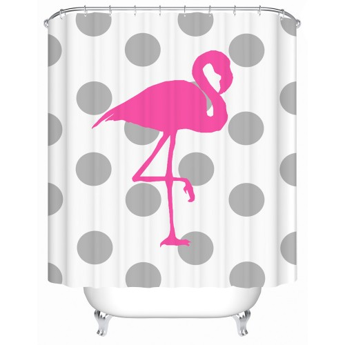Pink Flamingo Waterproof Shower Curtain Bathroom Curtain Eco Friendly High Quality Fabric Shower Curtain