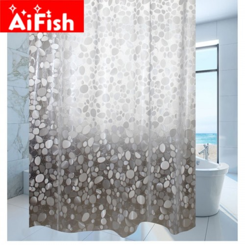 Shower Curtain Waterproof Transparent Thickening Customize Ultra Wide Bathroom Curtain Pebble Grain Shower Curtain DY004 20