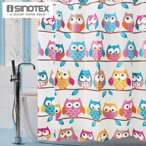 Shower Curtain printed Owls Waterproof Fashion Curtain