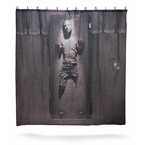 Star Wars Han Solo in Carbonite Shower CurtainBath Curtain Hospital Hotel With Hooks Ring