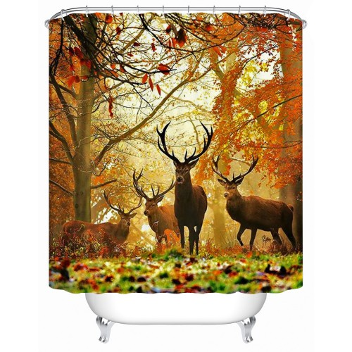 Waterproof Bathroom Products Shower Curtains Bathroom Curtain Deer Acceptable Personalized Custom
