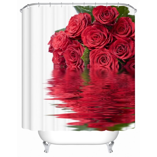 Waterproof Bathroom Shower Curtain Rose In The Water The Shower Curtain High quality Furniture Household Accessories