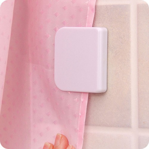 2pcs New shower curtain clip bathroom curtain buckle viscose dodechedron Wind fixed hook curtain holder Seamless.