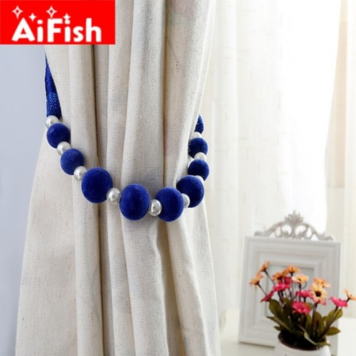 Curtain Accessories Handmade DIY Colorful Beads Hanging Straps For Home Curtains Holder Pearl Clips All.