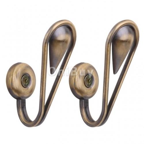 New Hot Sale Tear Shape Bronze Curtain Drapery Tiebacks Door Wall Tassel Hooks with screws 2pcs.