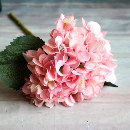 Artificial Flowers Branch Wedding Party Hydrangea Bouquet Single Silk Cloth Artificial Faux Floral Flowers Plants Dried
