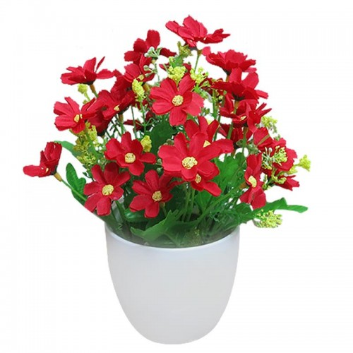 Artificial Flowers Bright Color Lifelike Chrysanthemum Fake Plants Potted Plants Home Decorations