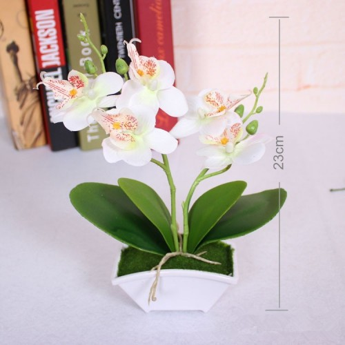 Artificial flower vas Butterfly Orchid Flower Real Touch leaves Artificial Plants Overall Floral For Wedding Valentine
