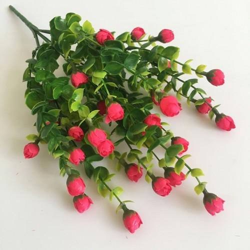 Bouquet 6 colors Mini Rose Artificial Flower 30 Heads Silk flowers Home Decoration Flores Bouquet