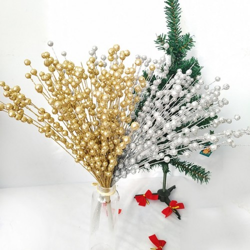 Christmas Decorative Artificial Pistachio Fake Flower Home Party Decorative Plastic Flower