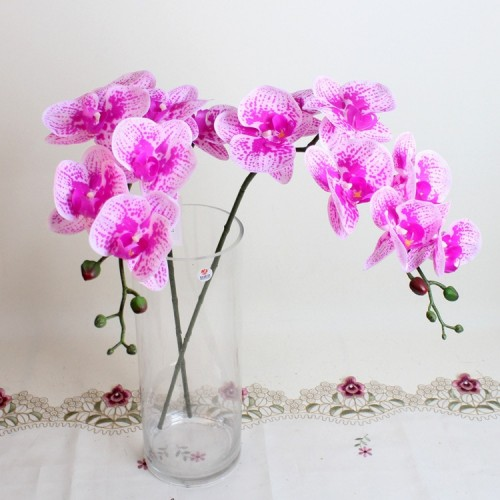 shine sasha 7 Heads 85cm artificial Phalaenopsis advanced latex silicon real touch big orchid orchidee white