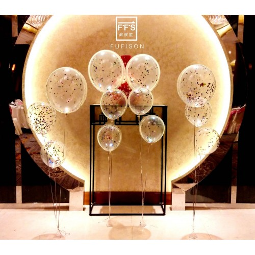 Confetti Balloons For Wedding Party Decorations 5pcs