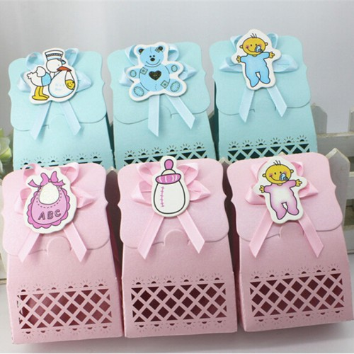 Cute Baby Shower Candy Box Event Party Supplies Decoration