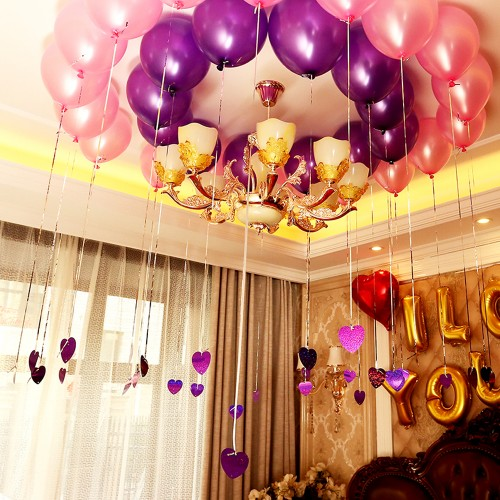 Helium Air Balloons Latex Multicolor Pearl Balloon Happy