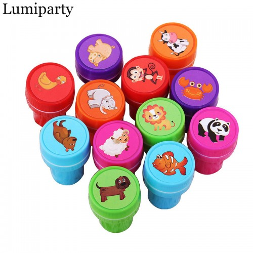 Lumiparty 12pcs Self Ink Stamps Kids Party Favors Event