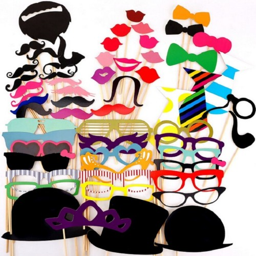 Photo Booth Props Hat Mustache Party Masks Lips On A Stick Wedding Party Decoration Birthday