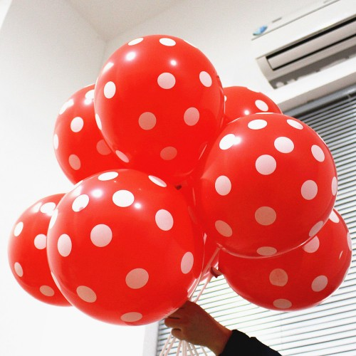 Polka Dots Balloons Wedding Birthday Balloons Decoration Globos Party Ballon palloncini anniversaire