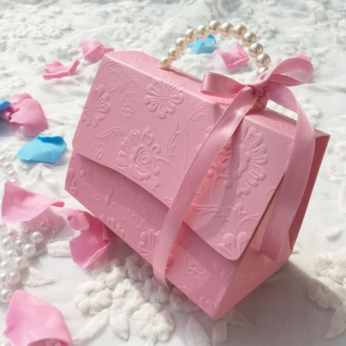 Portable Party Wedding Favor Candy Boxes Baby Shower Gift Bag creative candy box Romantic