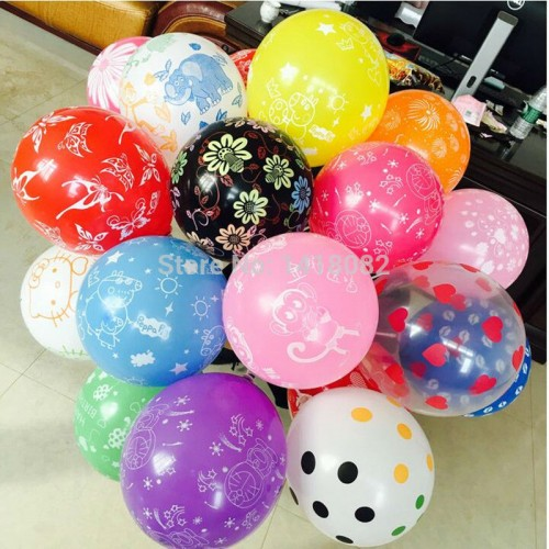 Round balloons printed Wedding Birthday Party Celebration