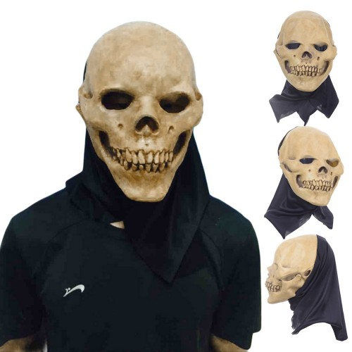 Scary Party Masks Latex Skull Mask Adult Full Head Face Breathable Halloween Mask Fancy Dress Party