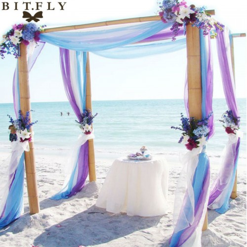 Sheer Organza Swag Fabric wedding decoration factory price with best service for custom