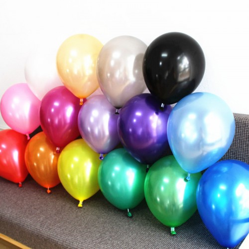 Silver Gold Balloons 20 pc 12 Inch Pearl Color Latex Balloons 3 2 g Birthday Decorations