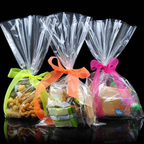 Transparent Design Adhesive Bag Cookies Diy Gift Bag For Christmas Wedding Party