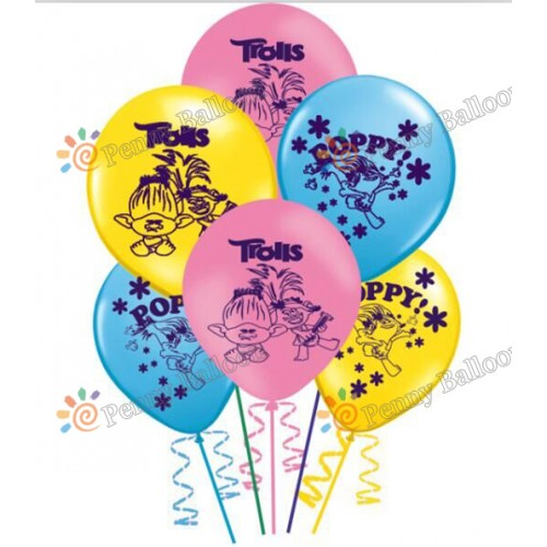 Trolls balloon Trolls Poppy Latex Balloons Birthday Party Decoration Toys For Kids Globos
