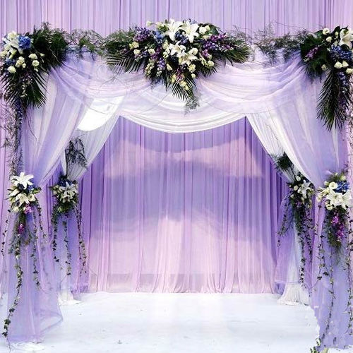 Wedding Decoration Home Organza DIY Silk Flower Heart shaped Arches Happy Artificial