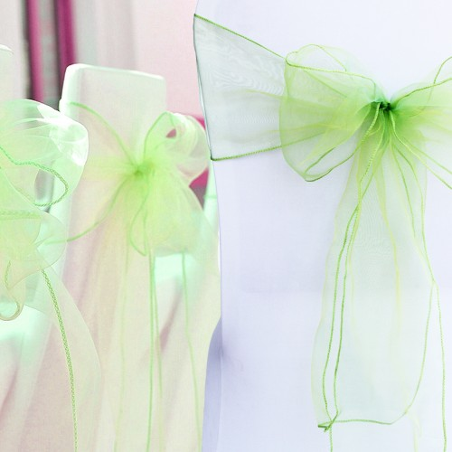 Wedding Organza Chair Cover Sashes Bow Sash Party Banquet Decor