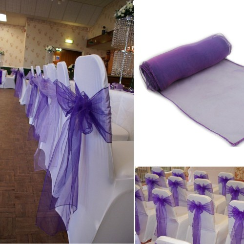 Wedding Organza Organza Chair Cover Sashes Bow Sash Wedding Banquet Party